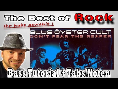 ?The best of Rock Ihr habt gewählt: #8 Blue Oyster Cult-Dont fear the reaper | Bass Tutorial