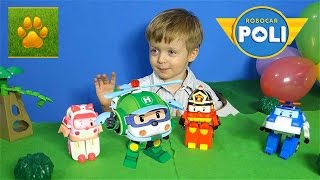 Робокар Хелли Распаковка Обзор Набор Robocar Poli Поли Робокар на Русском  Видео для Детей