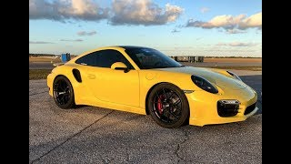 ES850 991 Porsche Turbo Sets Stock Motor 1/2 Mile Record - 186mph