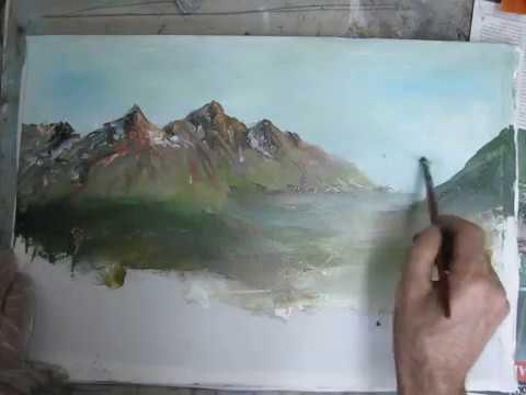 Yağlıboya Dağ Nasıl Yapılır