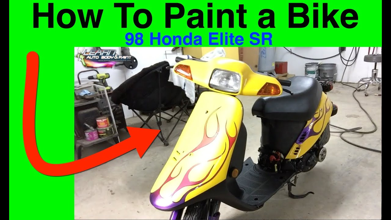 How to paint the scooter plastic with your own hands