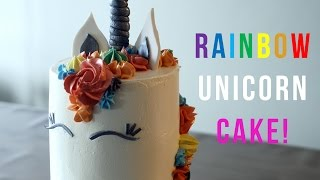How to make a Rainbow Unicorn Cake - Bake Bites