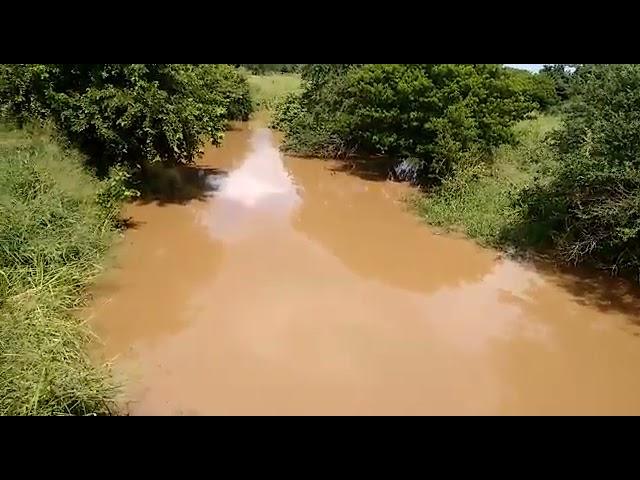 Arquivo Alto Sertão: Enchente para açude Lagoa do Arroz em Cajazeiras- PB