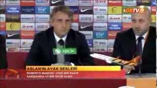 FUTBOL   Akhisar Bld. Maç Sonu / Basın Toplantısı: Roberto Mancini