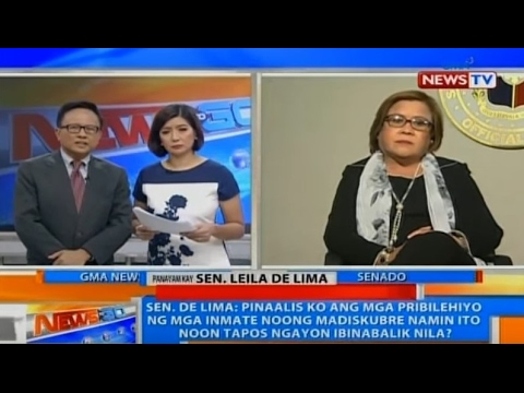 Sen. Leila M. de Lima on GMA News To Go