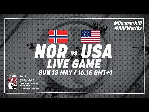 Norway - USA | Live | 2018 IIHF Ice Hockey World Championship