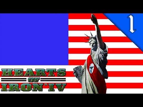NAZI AMERICA! Hearts of Iron 4: The Man in the High Castle Mod: HOI4 Challenge: Nazi America #1