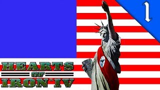 NAZI AMERICA! Hearts of Iron 4: The Man in the High Castle Mod: HOI4 Challenge: Nazi America #1