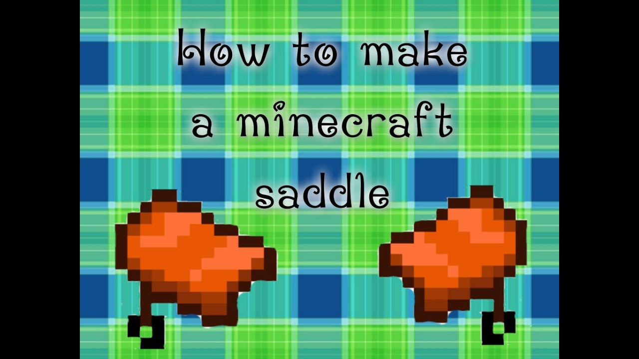 minecraft craft saddle how to make a saddle in minecraft 2471