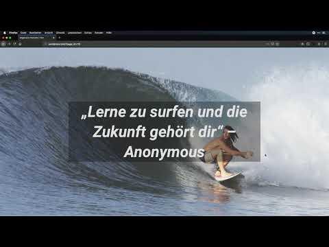 Die Surfschule mit dem Beaver Builder nachgebaut - WordPress-Page-Builder im Test