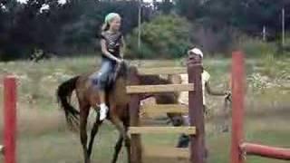 Olivia at horse back riding in Romania 3.