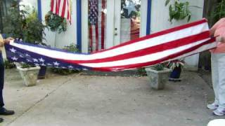 How to Handle & Fold the American Flag : How to Fold a Funeral Flag