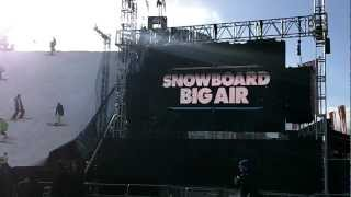 Billy Morgan wins Snowboard Big Air competition - Freeze Festival 2012