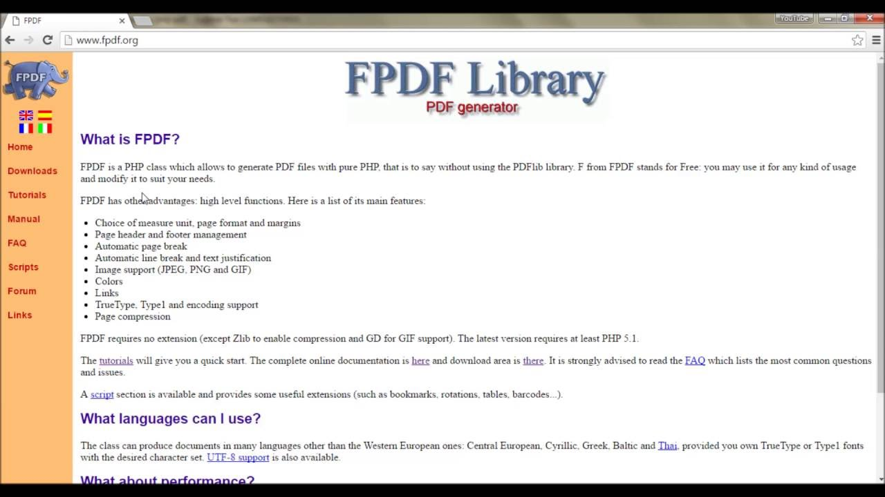 Pdf Library For Php