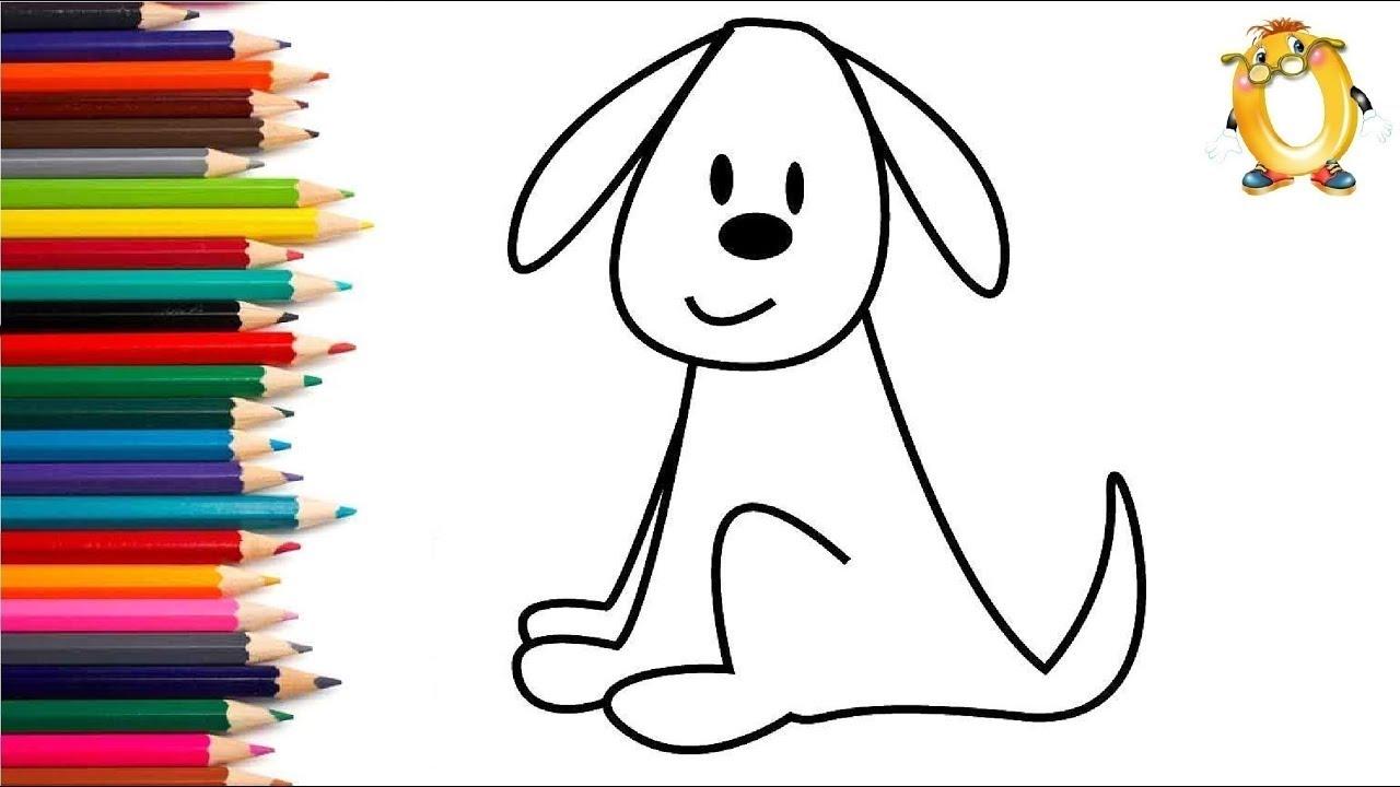 Раскраска для детей ЩЕНОК. Мультик - Раскраска. Учим цвета ...