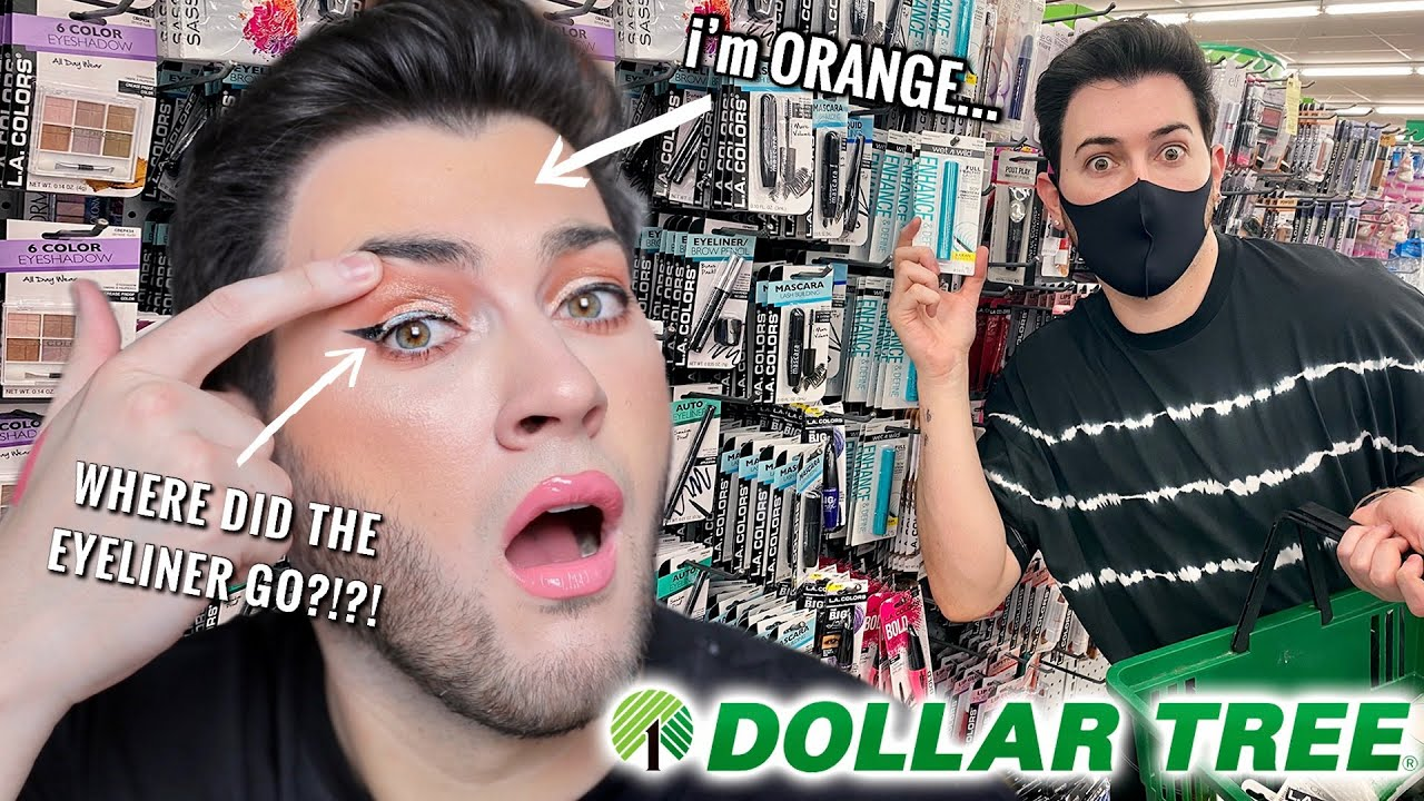 I BOUGHT EVERY PIECE OF MAKEUP FROM THE DOLLAR TREE... HELP