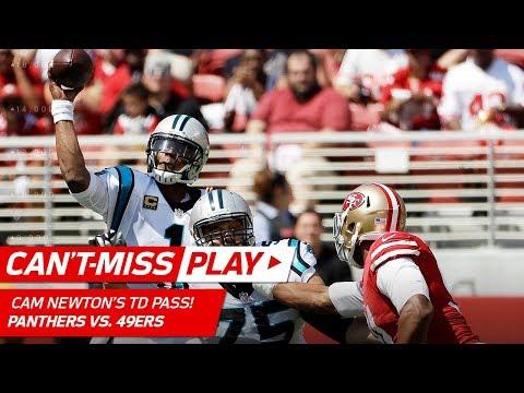 Cam Newton's Big 40-Yard TD Pass!   Can't-Miss Play   NFL Week 1 Highlights