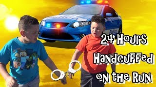 24 HOURS HANDCUFFED ON THE RUN! POLICE CHASE 2 SUSPECTS!