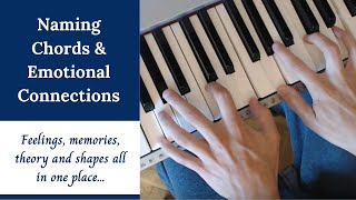 Naming Chords and Emotional Connections - Major, Minor, Diminished, Extensions, etc.(Many people have chord naming problems or believe that all those jazzy chords with lots of numbers are 'difficult'. In this video, finally understand major and ..., 2015-07-22T17:36:28.000Z)