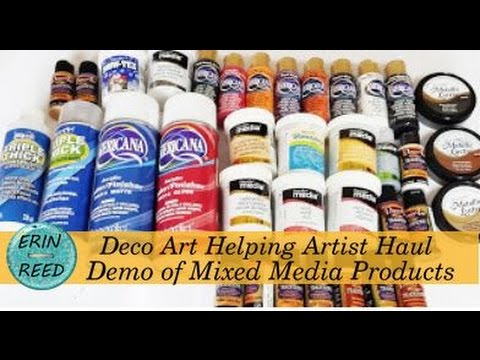 DecoArt Helping Artist Haul and Demo of Mixed Media Products
