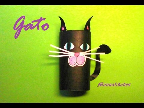 Manualidades gato negro para decorar en halloween youtube - Manualidades de gatos ...
