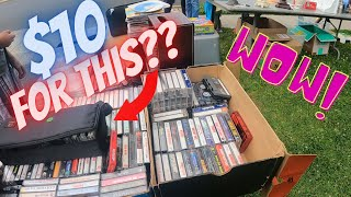 BIG PROFITS from this $10 cassette haul.  Great garage sale finds!!