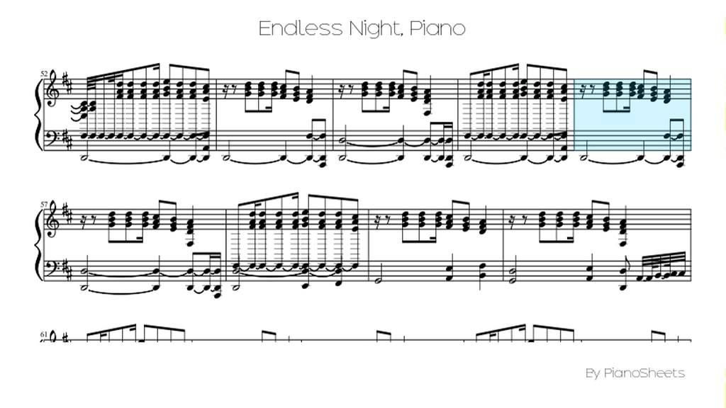 Piano lion king piano sheet music : Endless Night [Piano Solo] - YouTube