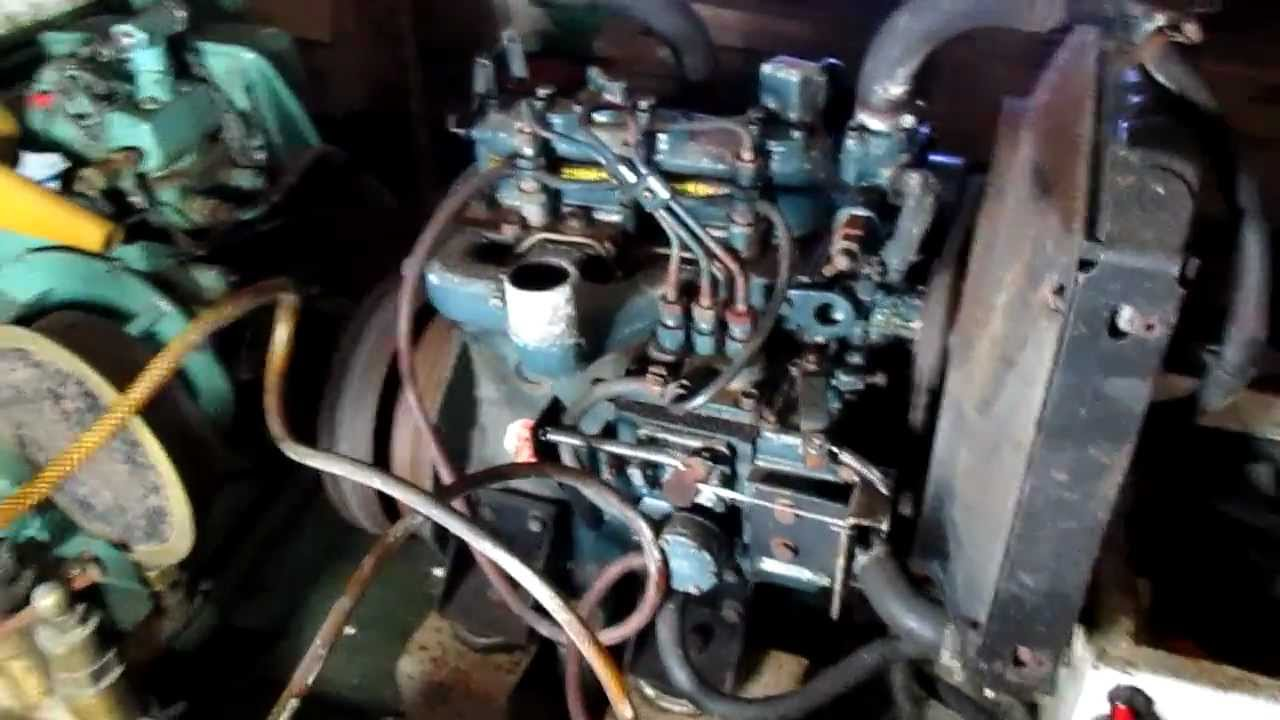 Kubota D850 3 cylinder diesel engine generator  YouTube