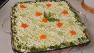 """БОМБЕЗНЫЙ САЛАТ"""" ЮЖНЫЙ""""- Вкуснейший слоёный салат со скумбрией"""