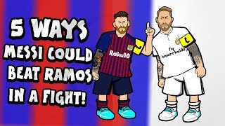 🥊MESSI vs RAMOS: the fight!🥊 (El Clasico 2019 0-1 Highlights)