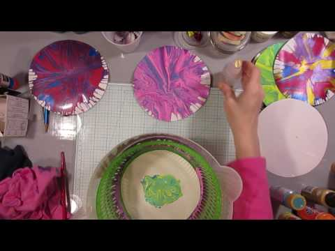 DIY Marbled Paper - Salad Spinner Technique! Great for Kids!