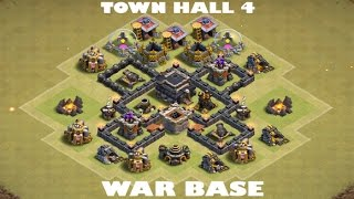Ultimate Town Hall 4 War Base 2017 | Clash Of Clans | DDRTV