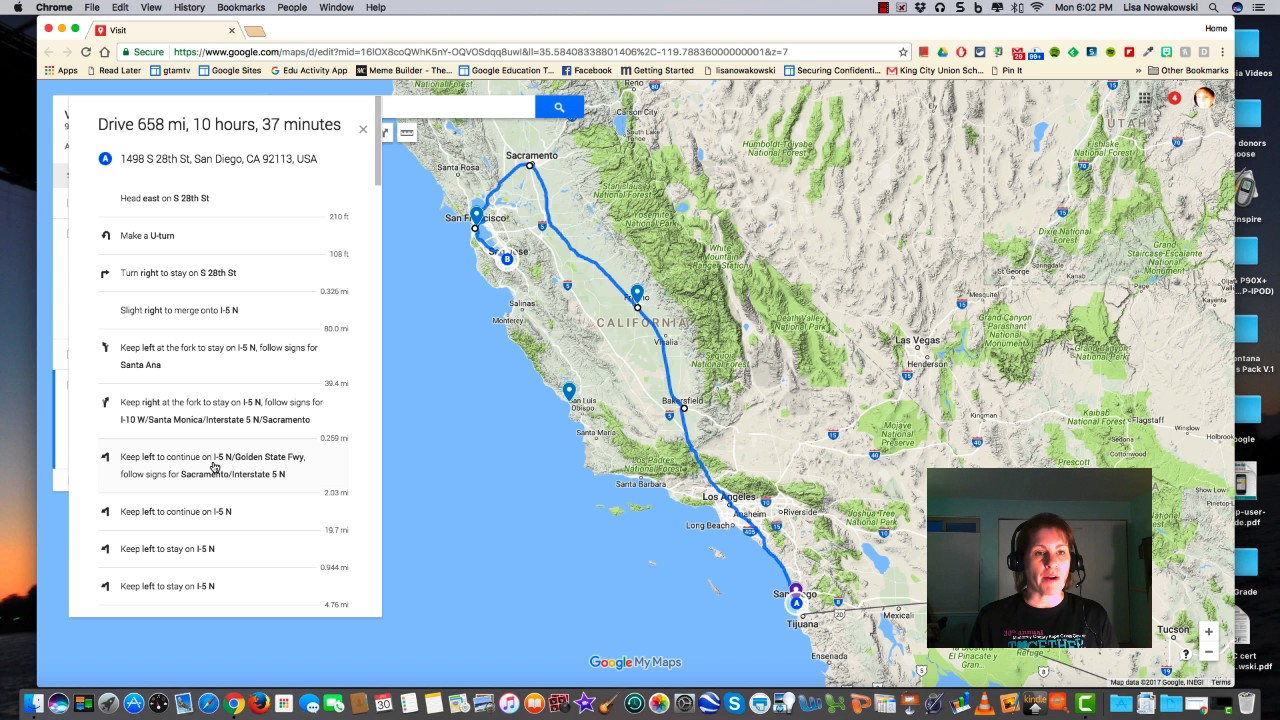 Google My Maps Part 7: Directions on google maps california, google earth satellite maps, driving directions maps usa, map and usa, full page map of usa, google maps ev charging stations, home usa, google maps florida, google maps street view, road map usa,