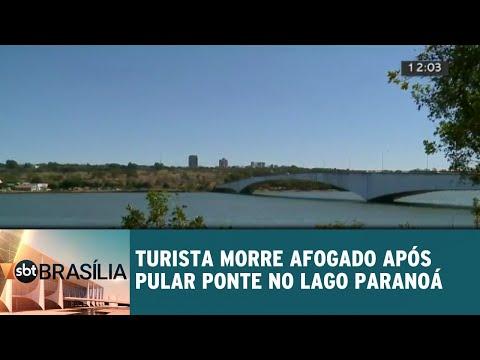 Turista morre afogado após   pular de ponte do Lago Paranoá | SBT Brasília 23/07/2018