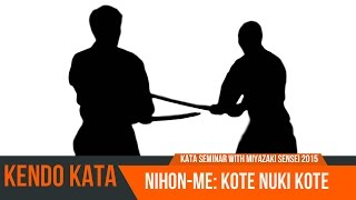 All Japan Kendo Kata No 2 (Kote Nuki Kote) with Miyazaki Sensei