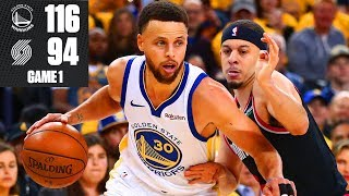 Steph Curry hits 9 3-pointers as Warriors win Game 1 vs. Trail Blazers | 2019 NBA Playoff Highlights
