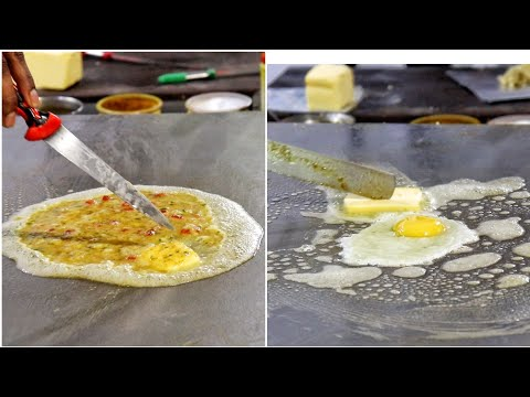 Extremely Butter Rich Egg Dishes At Raju Omlet | Egg Street Food | Indian Street Food