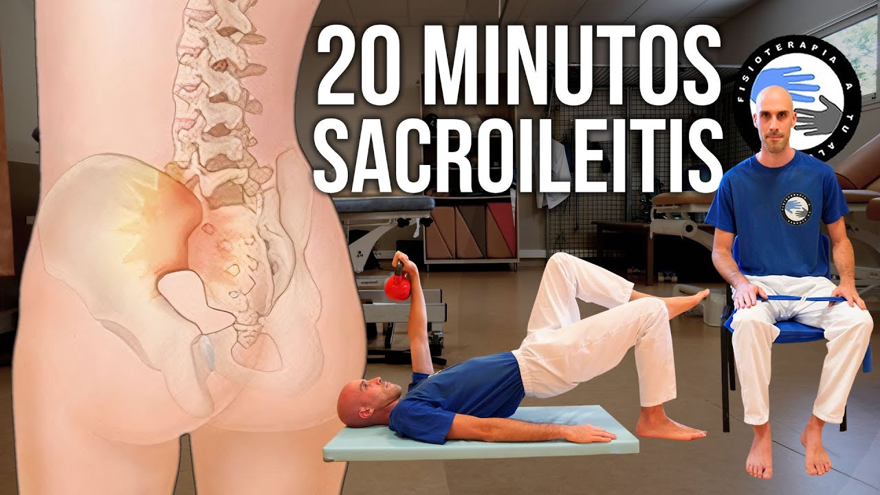🦴 Rutina de ejercicios para la sacroileitis de 20 minutos, HAZLOS CONMIGO