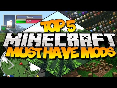 TOP 5 MINECRAFT MUST HAVE MODS! (Most Useful Mods)