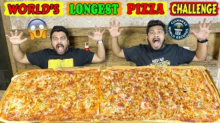 WORLD&#39S LONGEST PIZZA EATING CHALLENGE  LONGEST PIZZA WORLD RECORD EATING COMPETITION (Ep-317)