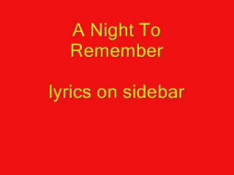 Hsm3 - A Night To Remember Lyrics - elyricsworld.com