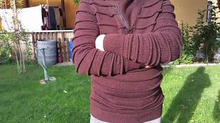 Обзор, вязаный мужской свитер.