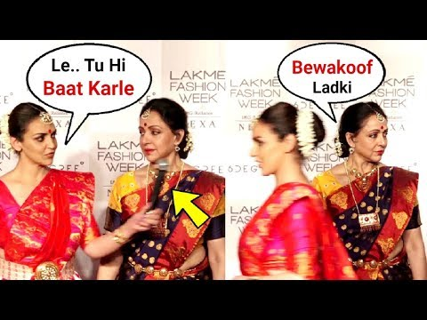 Esha Deol And Hema Malini Walks Out Of Lakme Fashion Week 2018 After Being Interrupted By Anchor