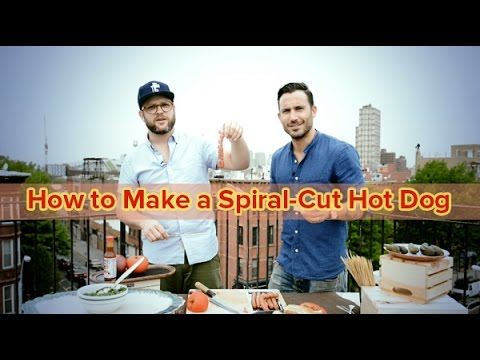 Spiral-Cut Your Hot Dog for Next-Level Grilling