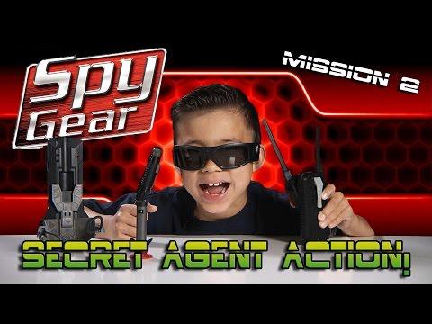 SPY GEAR: Quest for the GOLDEN EGG! Spike Mic, Video Glasses, Spy Pen