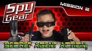 SPY GEAR: Quest for the GOLDEN EGG! Spike Mic, Video Glasses, Spy Pen