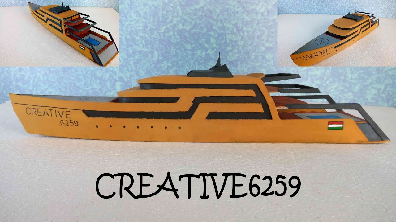 How To Make Boat(Luxury Yacht) - Amazing DIY Cardboard - Own Design ...