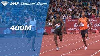 Christian Taylor ALMOST Win's Men's 400m - IAAF Diamond League Birmingham 2018