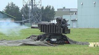 千歳基地航空祭2018年 VADS(20mm対空機関砲)空包弾装填~模擬対空射撃展示