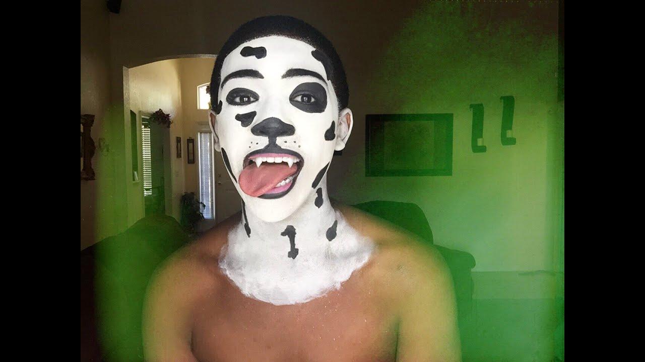 101 Dalmatian Dog Face Paint Tutorial